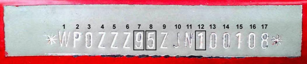 picture of Porsche VIN